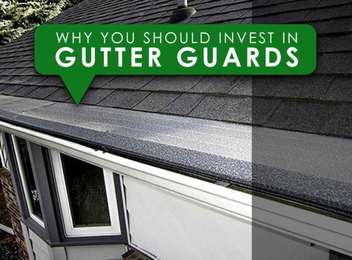 Gutter guards installed on roof