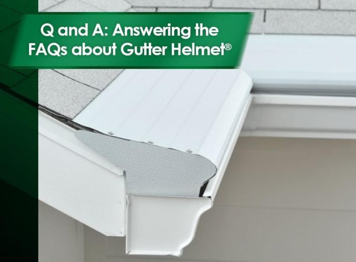 Gutter installs on roof